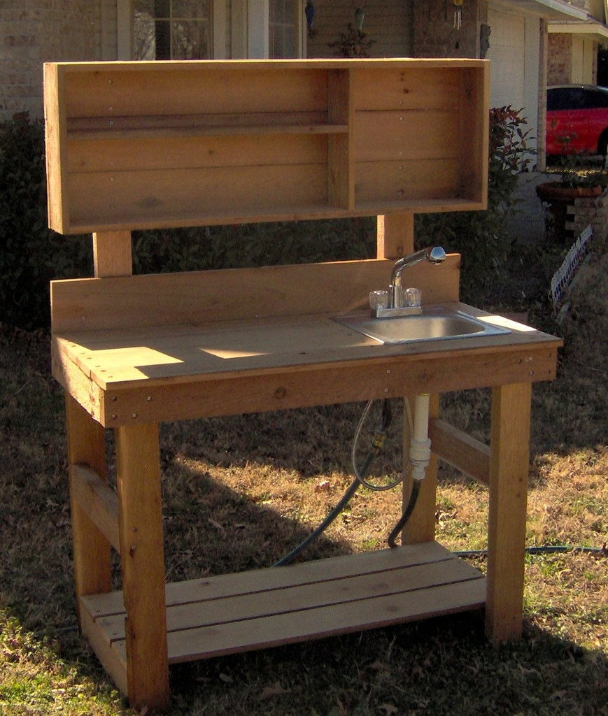 Brand New 6 Foot Ultimate Cedar Potting Bench With Sink Free