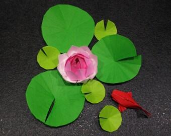 Origami lotus & koi