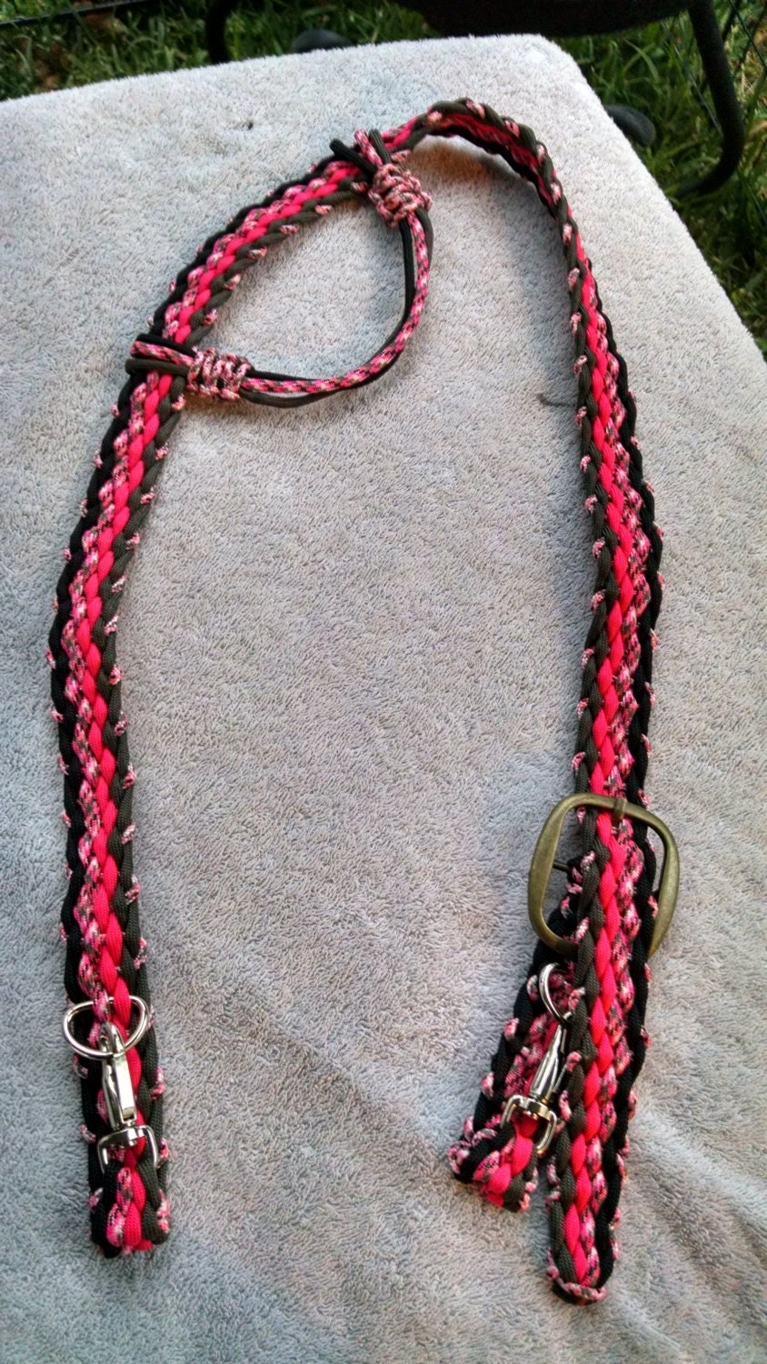 Horse tack paracord bridle standard horse size adjustable for Paracord horse bridle