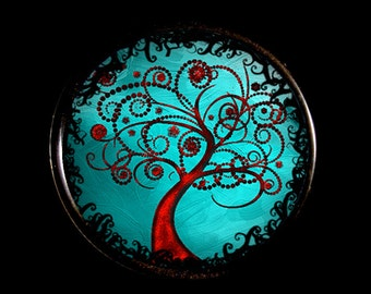 Curl Trees - Set of 6 Refrigerator Magnets