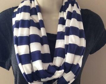 Lightweight jersey knit infinity scarf