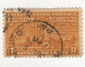17 cent 1944 Special Delivery (Scott's E 18) Single Stamp, Used