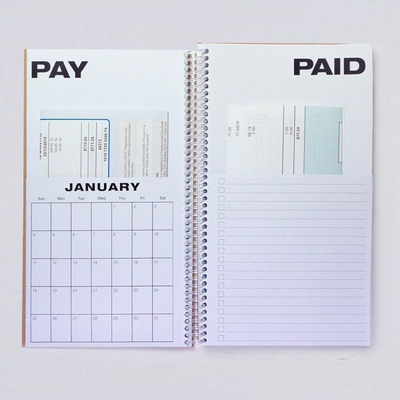 "Calendar Planner Book : Search results for ""bill paying calendar"