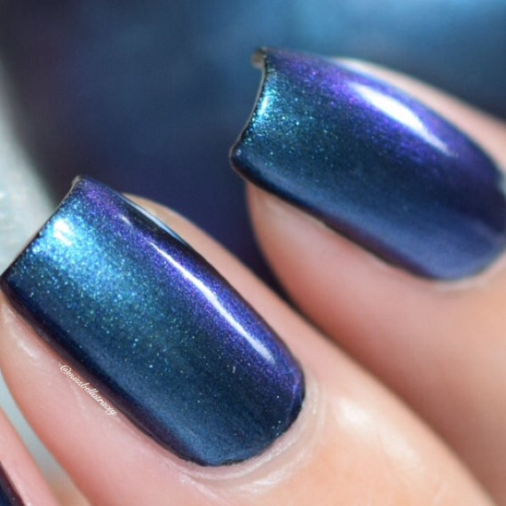 ENIGMA Multi-Chrome Color Shifting Nail Polish Purple Blue