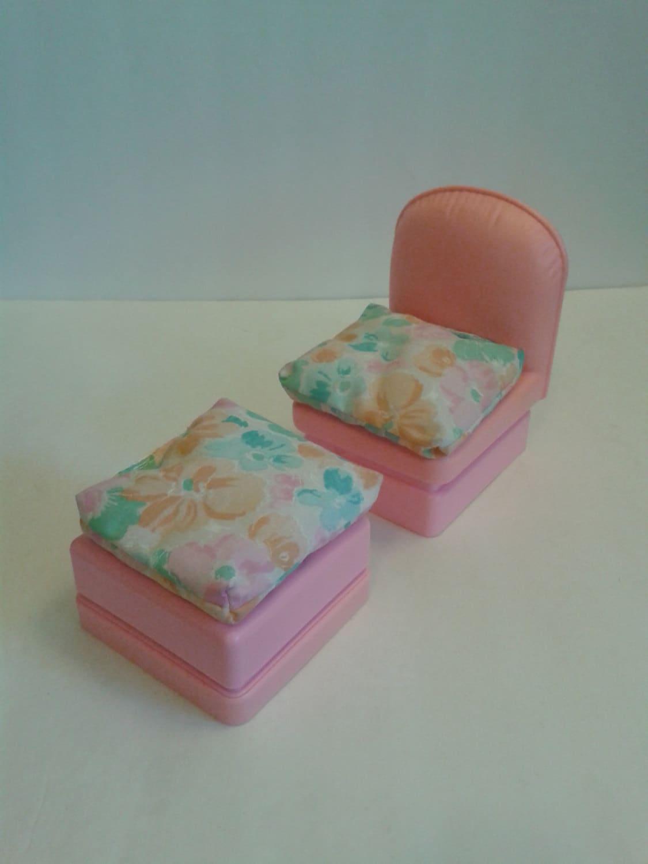 Meubles de maison de r ve barbie vintage coussin chaise - Maison de reve de barbie ...