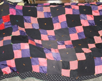 Vintage Black with Bold Colors Quilt