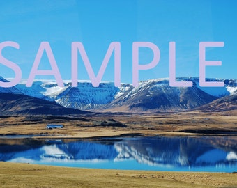 Set of 12 Iceland mountains photograph stationery note card (with envelope)