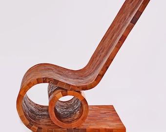 Modern Wood Chair - Wood Chair - Reclaimed Wood Chair
