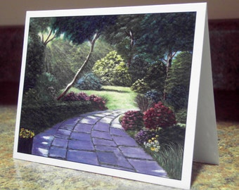 Blank Greeting Card - Central Park Path