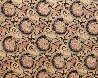 Fabric Chenille Scroll  Print, upholstery Heavy chenille fabric, For Upholstery, Drapery, Bedding, pillows, Home decor,