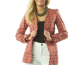 Ella Fitted Tailored Print Blazer