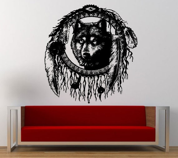 American Heads Wolf Head Native American