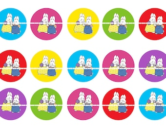 MAX AND RUBY 1 Inch Bottle Cap Digital Image- Instant Download
