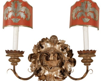 wall Sconce w/ painted shades