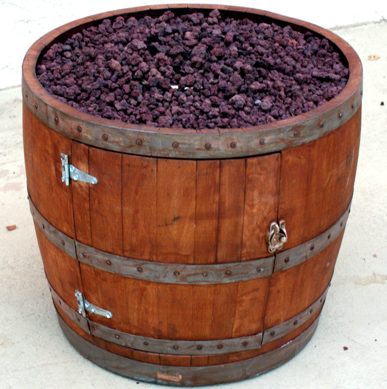 Wine Barrel Fire Pit By Smoketreebarrelco On Etsy