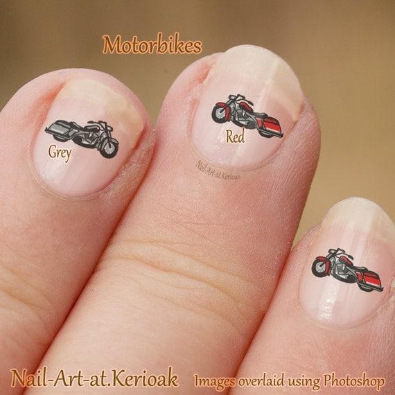 Motor Bike Nail Art, Motor Cycle Nail Art Stickers