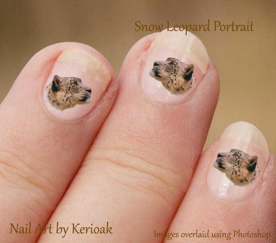 Diy Snow Leopard Nail Art: Snow Leopard Nail Art, Big Cat Nail Art Stickers, Leopard