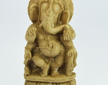 Beautiful Handmade Home decor Sattue of Indian Ganesha in Stone dust and with One Color