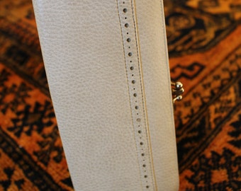 Vintage Baronet Off-White Leather Wallet