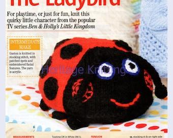 gaston the ladybird dk toy knitting pattern 99p