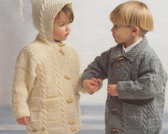aran duffle coat knitting pattern 99p
