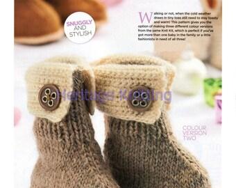 baby boots dk knitting pattern 99p