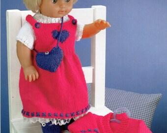 doll clothes dk knitting pattern 99p pdf