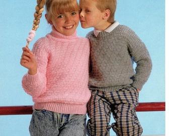 childrens sweaters dk knitting pattern 99p pdf