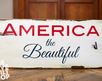 Patriotic Wood Sign | Americana | 4th Of July | Man Cave | Gifts for Him