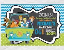 Scooby Doo Birthday invite,Scooby Doo invite,Invite,Birthday Invite,Scooby Doo Party,Scooby Doo invite,Birthday Invitation, Scooby Doo