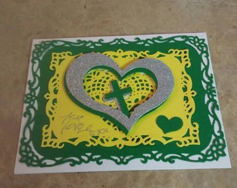 True love green and yellow