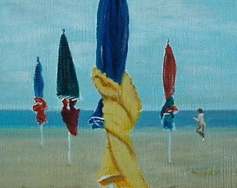Deauville. Acrylic painting.