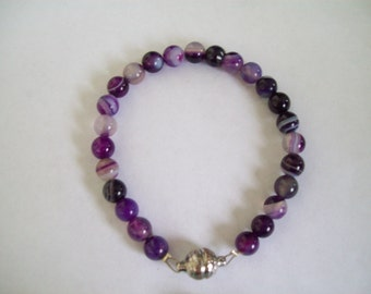 Dark purple marble bracelet