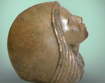 Portrait sculpture femme - Objet d'art