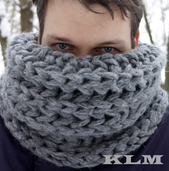 tricoter une echarpe homme en laine