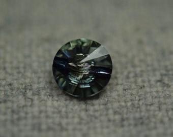 Sage swarovski button