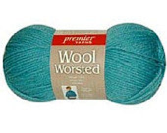 Yarn - Premier Worsted Wool - Kelly Green