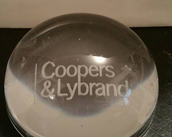 Coopers & Lybrand Glass paperweight