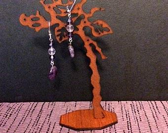 Purple Goddess Earrings