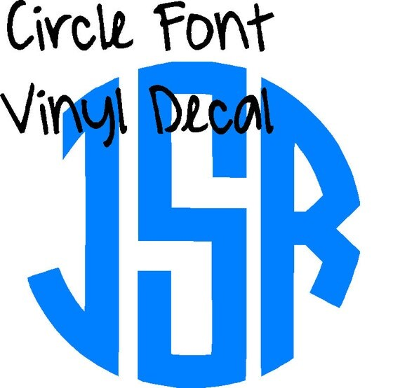 "Items Similar To FLASH SALE 4"" Circle Font Vinyl Decal"