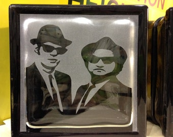 blues brothers glass block
