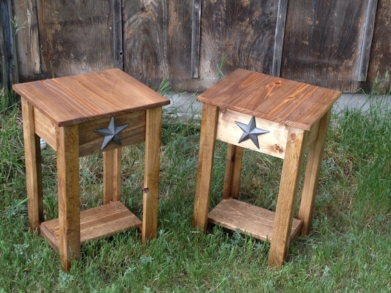 Rustic Western Distressed Night Stand Or By