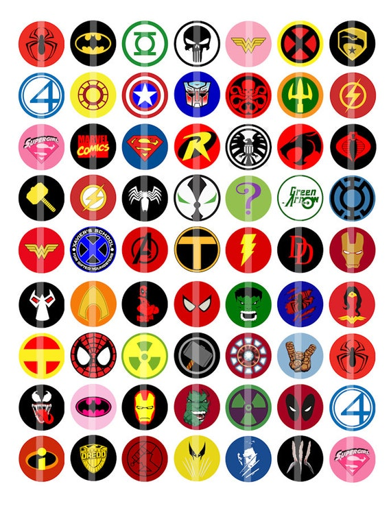 superhero logos and names pictures to pin on pinterest