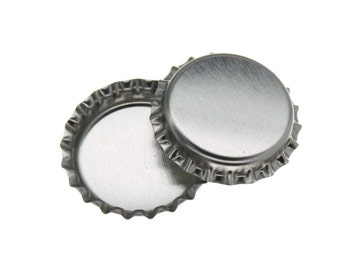 100 Caps - Chrome Bottle Caps