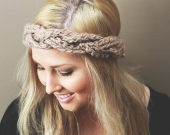 Women's Braided Fashionable Crochet Headband Earwarmer Head Wrap Available In All Colours