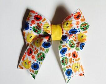 Sesame Street Elmo Hair Bow with Your Choice of Hair Clip/Tie/Headband