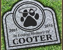 Pet Memorial Grave Marker Headstone Dog Cat Horse Gravestone Personalized Engraved Pet Garden Stone Pet Memorial Stone