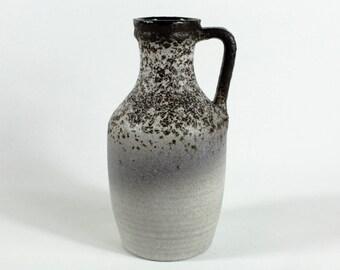 Smoky blue Marei Vase 9101/3, West German Pottery, Fat Lava, 70s Modernist