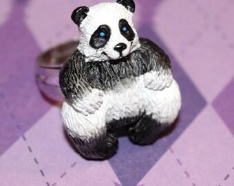 Rainbows&ChickenWings Funky Accessories Panda Ring