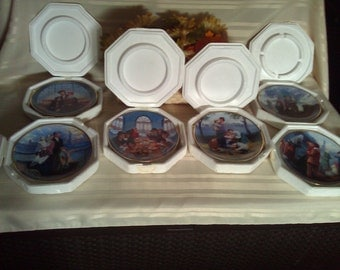 The Franklin Mint Ellis Island Collector Plates. Complete Set Flawless Condition. The Franklin Mint Collecter's Plates